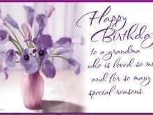 72 Customize Birthday Card Templates For Grandma For Free with Birthday Card Templates For Grandma