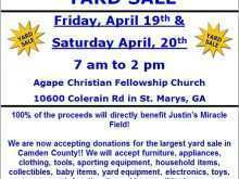 72 Customize Church Yard Sale Flyer Template in Word by Church Yard Sale Flyer Template