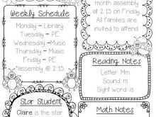 72 Customize Class Schedule Template For Teachers Templates by Class Schedule Template For Teachers