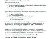 72 Customize Sample Agm Agenda Template Layouts by Sample Agm Agenda Template