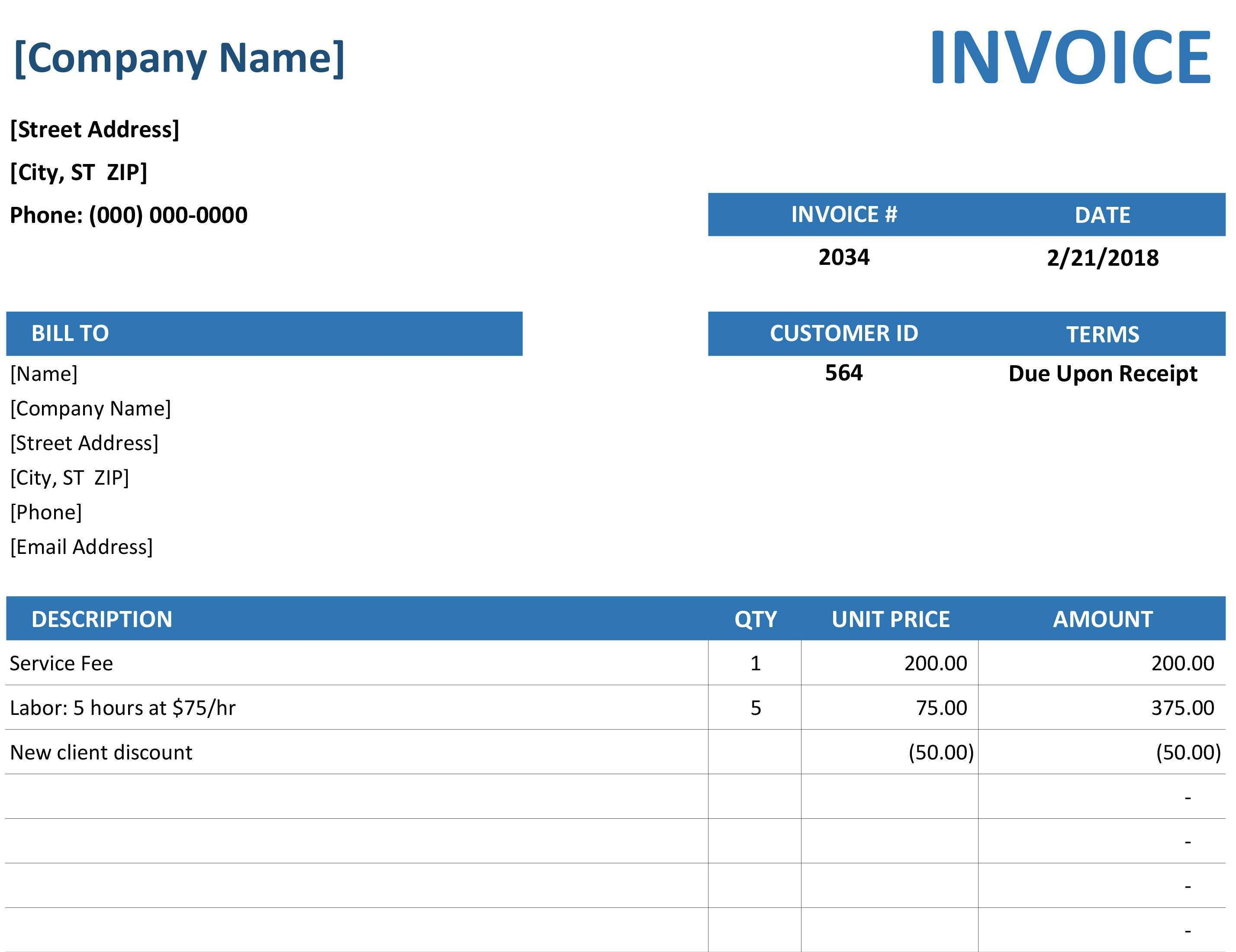 72 Format Blank Business Invoice Template Photo by Blank Business Invoice Template