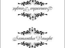 72 Format Name Card Templates Wedding Layouts by Name Card Templates Wedding