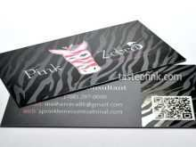 72 Format Pink Zebra Business Card Templates in Word with Pink Zebra Business Card Templates
