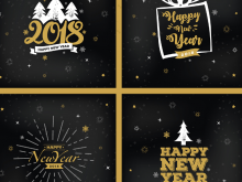 72 Free 2018 New Year Card Template Free Now by 2018 New Year Card Template Free