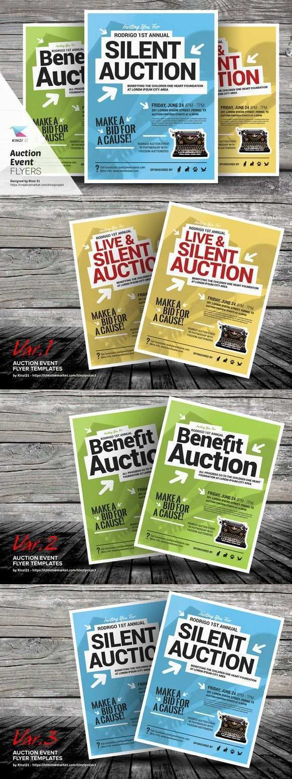 72 Free Printable Auction Flyer Template Now for Auction Flyer Template