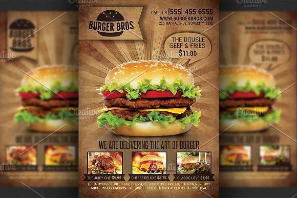 72 How To Create Burger Promotion Flyer Template in Word for Burger Promotion Flyer Template