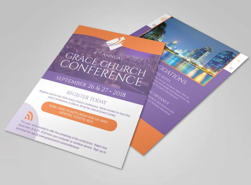72 Online Church Conference Flyer Template With Stunning Design for Church Conference Flyer Template