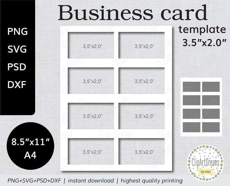 72 Printable Business Card Template On A4 for Ms Word with Business Card Template On A4