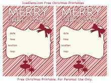 72 Printable Christmas Card Invitations Templates Formating with Christmas Card Invitations Templates