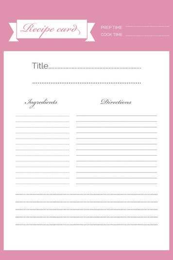 72 Printable Christmas Recipe Card Template Pdf For Free with Christmas Recipe Card Template Pdf