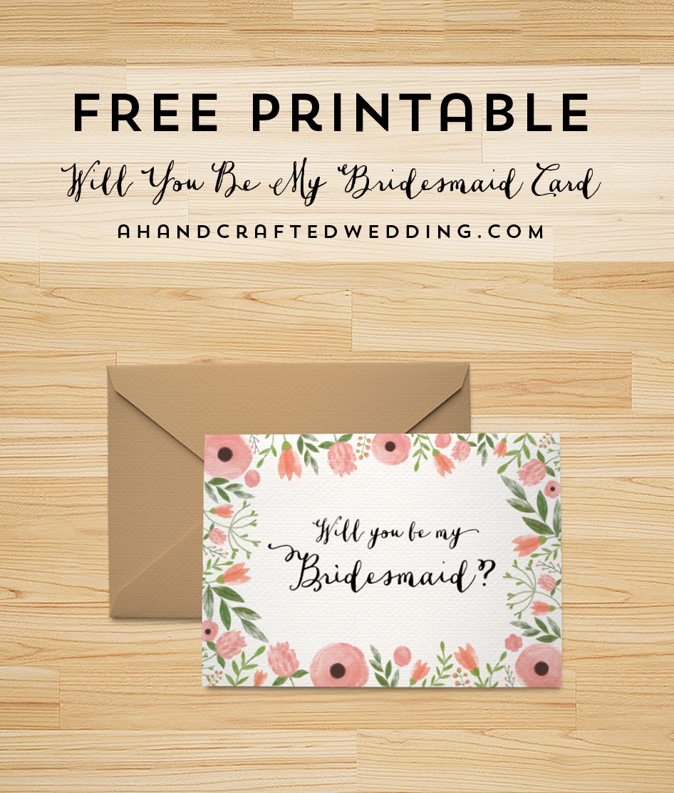 72 Report Bridesmaid Card Template Free For Free with Bridesmaid Card Template Free
