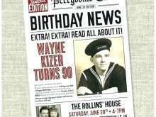 72 Visiting Birthday Card Newspaper Templates for Ms Word for Birthday Card Newspaper Templates