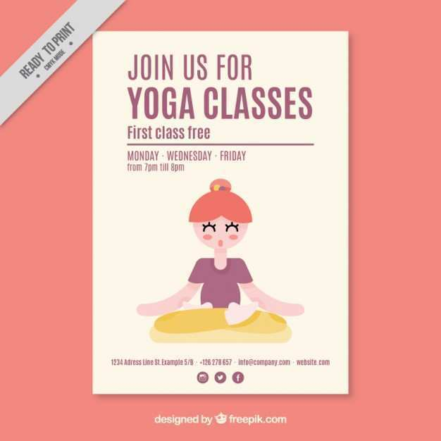 Yoga Flyer Template Free Cards Design Templates