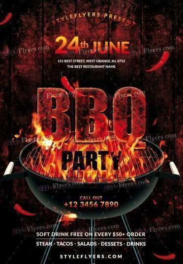 73 Best Bbq Flyer Template in Photoshop with Bbq Flyer Template