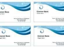 73 Create Free Name Card Template Microsoft Word for Ms Word by Free Name Card Template Microsoft Word