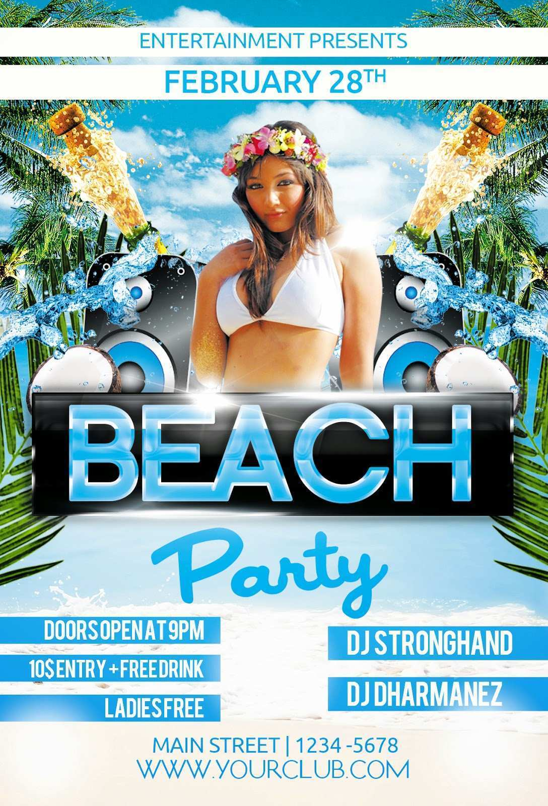 73 Creating Beach Party Flyer Template Formating with Beach Party Flyer Template