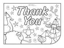 73 Creating Colour In Thank You Card Template with Colour In Thank You Card Template