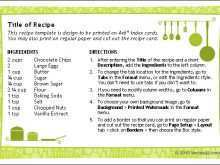 Download Recipe Card Template For Word