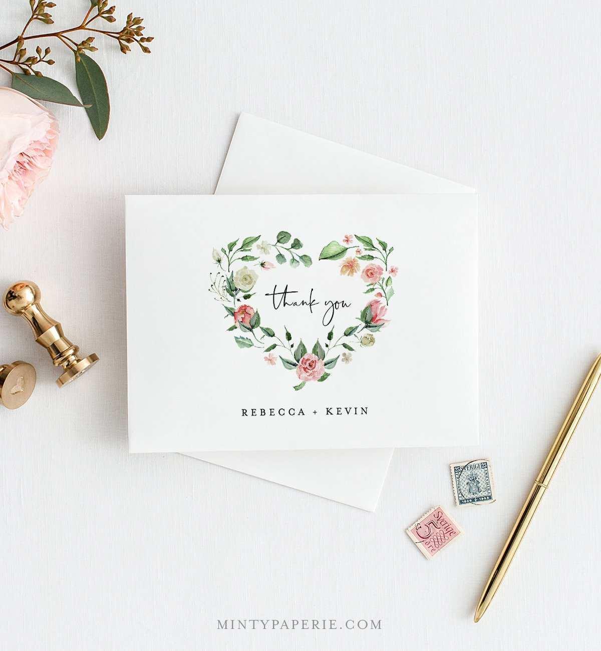 heart thank you card template  cards design templates