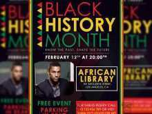 73 Customize Black History Month Flyer Template Formating with Black History Month Flyer Template