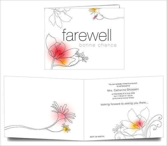 73 Customize Our Free Farewell Invitation Card Template Word Formating for Farewell Invitation Card Template Word