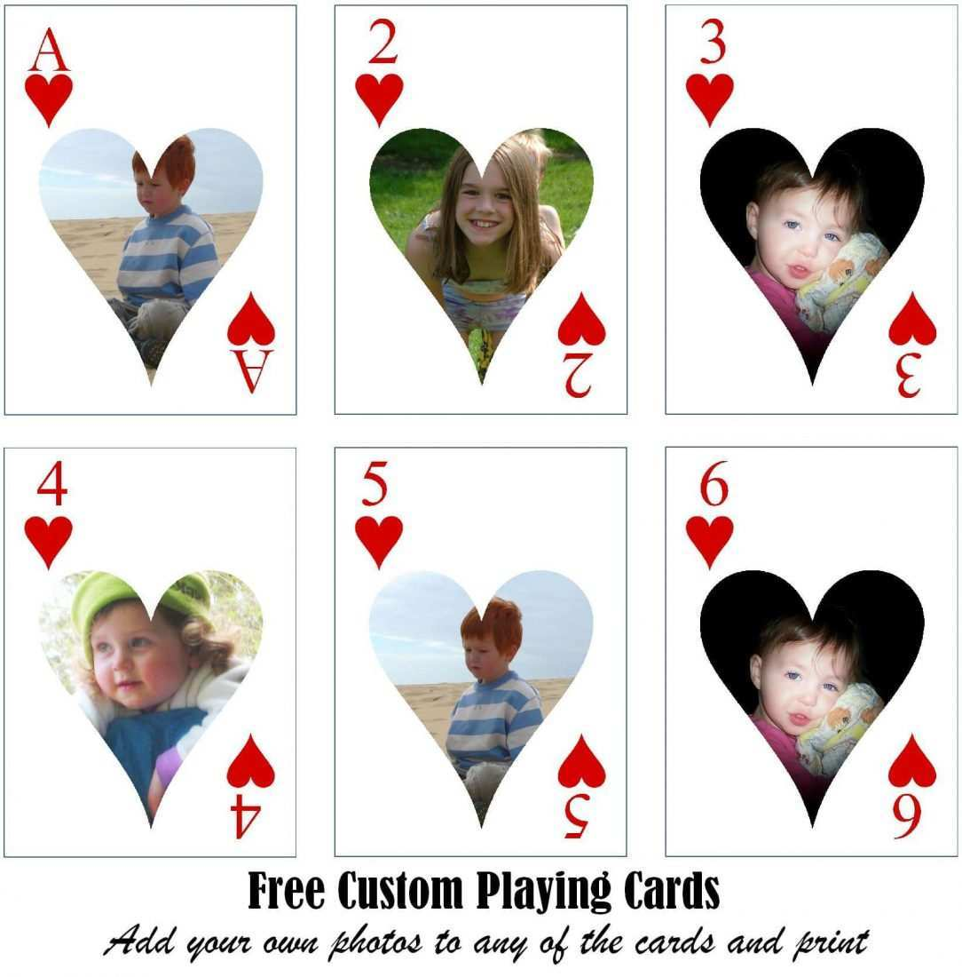 24 Customize Our Free Large Playing Card Template Printable Now For Free Printable Playing Cards Template