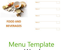 73 Format Word Templates Menu Card With Stunning Design by Word Templates Menu Card