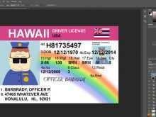 73 Free Hawaii Id Card Template With Stunning Design with Hawaii Id Card Template