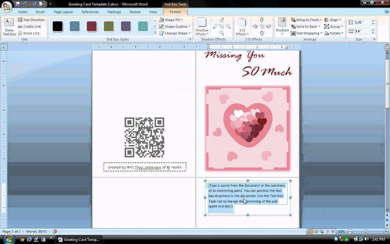 73 How To Create Blank Greeting Card Template For Microsoft Word in Word with Blank Greeting Card Template For Microsoft Word