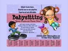 73 Online Babysitter Flyers Template PSD File with Babysitter Flyers Template