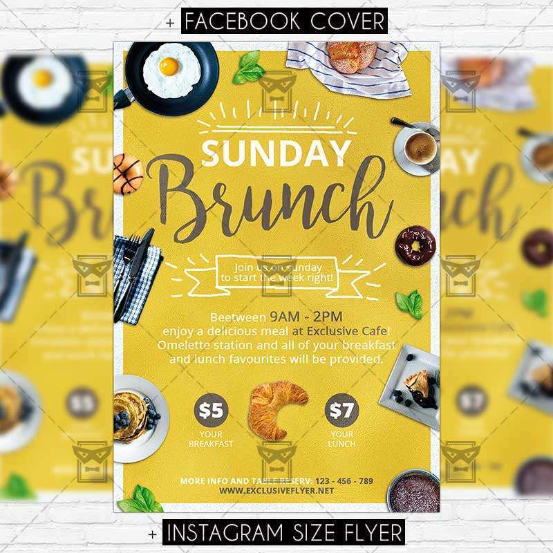 73 Online Brunch Flyer Template Free Layouts with Brunch Flyer Template Free