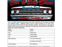 73 Online Car Show Flyer Template Word For Free for Car Show Flyer Template Word