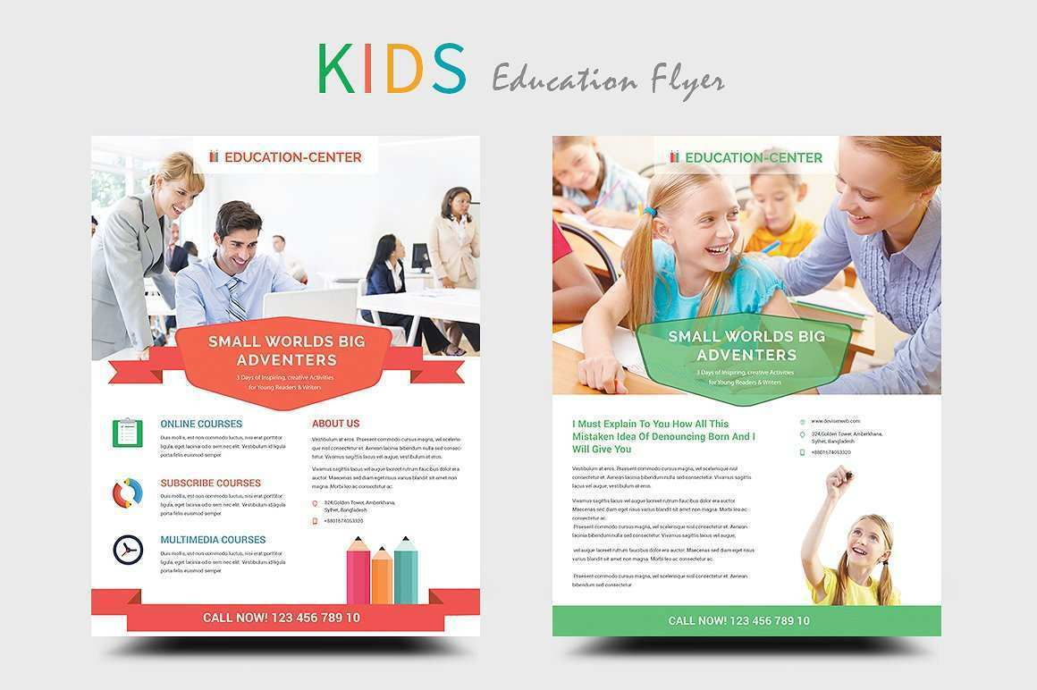 73 Printable Free Education Flyer Templates Maker for Free Education Flyer Templates