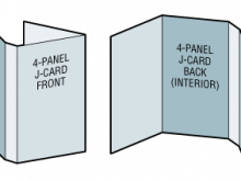 74 Blank 4 Panel J Card Template by 4 Panel J Card Template