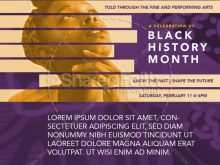 74 Creating Black History Month Flyer Template Formating with Black History Month Flyer Template