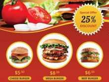 74 Customize Burger Promotion Flyer Template Photo with Burger Promotion Flyer Template
