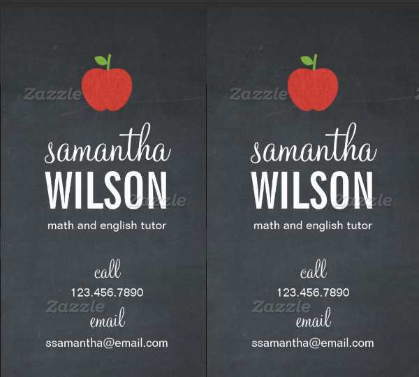 74 Customize Our Free Business Card Template English Teacher in Photoshop with Business Card Template English Teacher