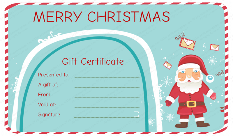 Download Xmas Voucher Template Free Download  PNG