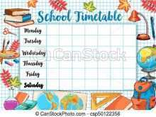 74 Format Back To School Schedule Template Download with Back To School Schedule Template