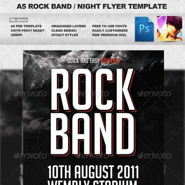 74 Free Band Flyers Templates Layouts for Band Flyers Templates