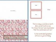 74 Free Birthday Card Template Grandmother For Free for Birthday Card Template Grandmother