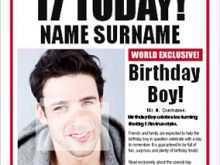 74 Free Printable Birthday Card Newspaper Templates Download for Birthday Card Newspaper Templates