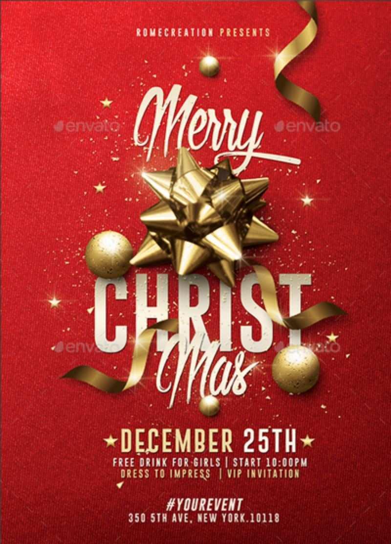 74 Free Printable Christmas Invitation Flyer Template Free Photo for Christmas Invitation Flyer Template Free