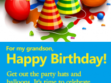 74 How To Create Birthday Card Template For Grandson Layouts with Birthday Card Template For Grandson