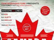 74 How To Create Canada Day Flyer Template Templates for Canada Day Flyer Template