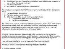 74 Printable Sample Agm Agenda Template With Stunning Design with Sample Agm Agenda Template