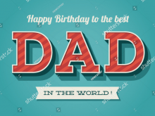 74 Report Birthday Card Template For Dad Now for Birthday Card Template For Dad