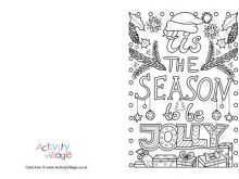 74 Visiting Christmas Card Template Coloring Photo with Christmas Card Template Coloring