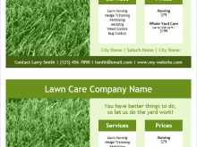 75 Adding Lawn Mowing Flyer Template for Ms Word with Lawn Mowing Flyer Template