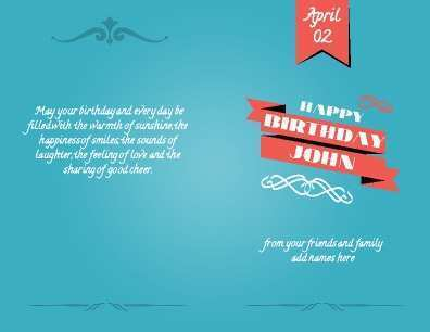 75 Best Birthday Card Template 8 5 X 11 Templates for Birthday Card Template 8 5 X 11